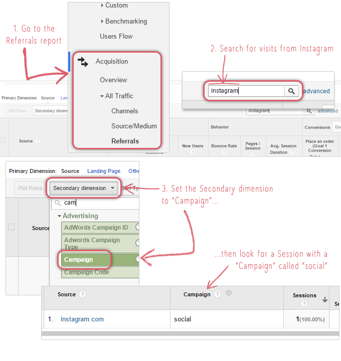 How to test your Instagram campaign tags in Google Analytics