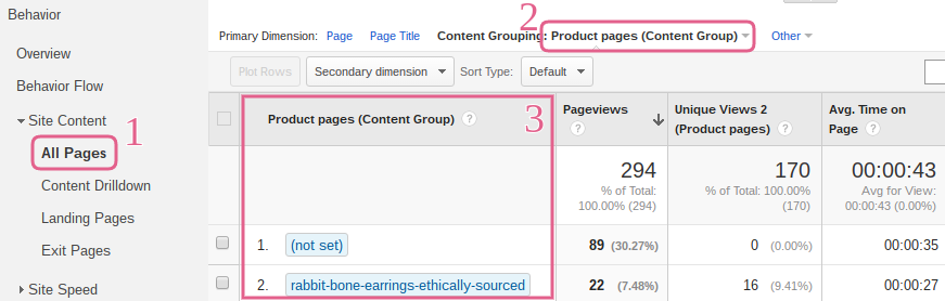 google-analytics_how-to_change-primary-dimension-to-product-pages-content-grouping