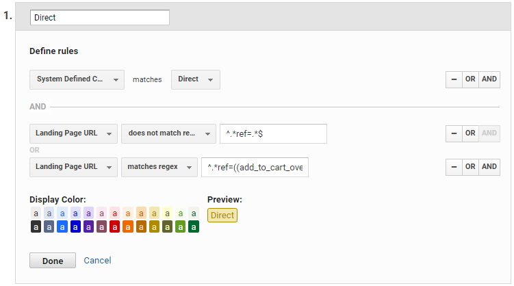 A screenshot of how this information is visually displayed in the Channel Definition edit form.